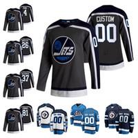 Winnipeg Jets 2021 Reverse Retro 29 Patrik Laine Blake Wheeler Kyle Connor Dustin Byfuglien Mark Scheifele Hockey Jersey 사용자 정의 스티치