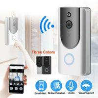 Wireless Smart Wifi-Türklingel-Kamera-Video-Telefon-Tür-Visualring-Gegensprechanlage mit Nacht IR-Vision-Türglocke Home Secure-Kamera