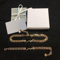 Material del collar de la letra de la pulsera de moda unisex del collar de la joyería de alta calidad de latón chapado en oro collar de suministro