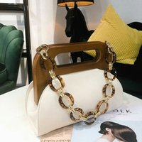 Women Luxury Handbag Wood Handle Bag Day Clutches Female Vintage Crossbody Bucket Bag Crossbody Bags PU Purse C1011