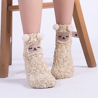 3D Animales lindos Invierno Equipo cálido Calcetines Fuzzy Paquete de valor MUJER MUJER COLOR COLORCE INDERAL MISLIZADO SHIPPER SOCKS 50PAIR HHE4077