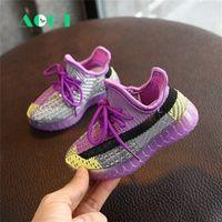 AOGT Spring New Baby Shoes de punto Transpirable Boy Boy Shoes Soft Cómodo Zapatillas de deporte infantil Marca Zapatos para niños 201222