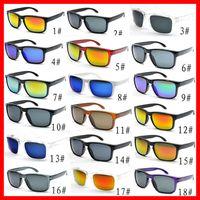 El precio de fábrica 18 colores gafas de sol lente manera Hombres Mujeres Deportes Gafas de sol Tendencia anteojos la conducción Gafas Gafas 50PCS nave rápida