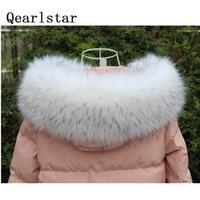Qearlstar Super Luxury 100% High Quality Winter Scarf Faux Fur Collar For Male Female Kids Jackets Hood Fashion Warm Wraps FY505 201026
