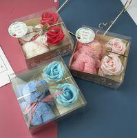 Rose Bär Valentines Tag Geschenke Bäretuch Simulation Blume Geschenkboxen Seifenblumen Valentinstag Party Favor GWD4205