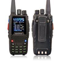 KT-8R 쿼드 밴드 무전기 야 UHF VHF 136-147Mhz 400-470mhz 220-270mh 350-390mhz 휴대용 5W UV 양방향 무선 컬러 디스플레이
