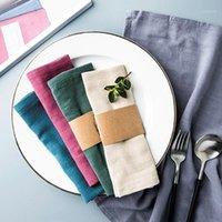 40x30 سنتيمتر الزفاف القطن الكتان الجدول منديل الصحون عشاء الجدول الزخرفية القماش الأطباق منديل لوازم تنظيف منشفة 1