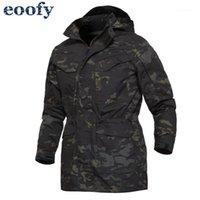 Chaquetas para hombres Camuflaje Ropa Masculina Ejército Ejército Táctico Hombres Cubierta Cubierta Hoodie Outwear Abrigos con sombrero1