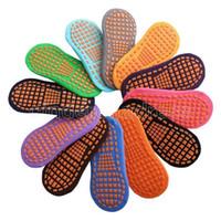 Calcetines calcetines de trampolín punto pegamento antideslizante calcetín de algodón niños educación temprana niños adulto hogar calcetines de yoga