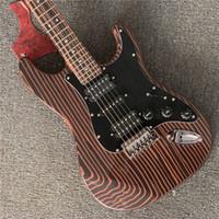 2020 Yüksek Kalite 6 Dize Elektro Gitar, Zebra Ahşap Vücut Ve Boyun Altın Donanım Gitar, Ücretsiz Kargo Elektrikli Gitar Guitarra