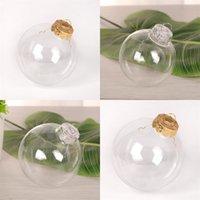 زينة الزفاف البلاستيك الكرة من 2020 شجرة عيد الميلاد قلادة شفاف DIY نفاذية عالية الجوف المجال في الهواء الطلق 7 98sq F2