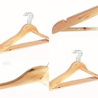 شماعات شماعات الملابس الخشبية الطبيعية شماعات للقطعة القماش المزدوجة الجافة والرطبة الغرض غير زلة الخشب الشماعات حاملي تخزين 49 P2