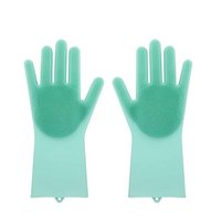 Силиконовые перчатки с кистью многоразовая безопасность силиконовые блюдо стиральные перчатки термостойкие перчатки кухонные чистящие инструмент HHAA614 28 N2