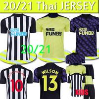 Newcastle United 2020 2021 em Tyne Magpies Nova Jerseys de futebol Wilson Ritchie Camisa de futebol United Homens Uniformes Tailândia Top