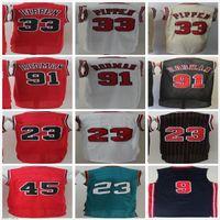 NCAA Северная Каролина мужская ретро Винтаж № 23 с названием Все стили красный белый черный мужской Scottie 33 Pippen Dennis 91 Родман Баскетбол