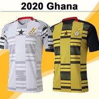 2020 غانا لكرة القدم الفانيلة فريق رجل وطني توماس شلوب j.ayew kudus المنزل الأبيض بعيدا الأصفر أسود كرة القدم قميص قصير الأكمام