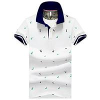 Été à manches courtes Polo Hommes Print Tops Slim Fit Streetwear Respirant Vêtements de golf pour hommes