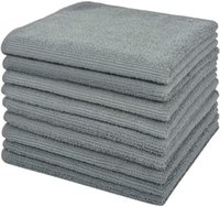 Sinland z mikrofibry Cleaning Cleanings Home Kitchen Rayms Washcloths Non-Streak Lint Free Pack 12inx12in Grey 201022