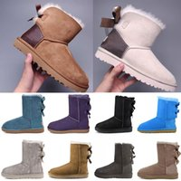 Hot Designer Classic ugg uggs Wgg Breve Bailey Bow Tall Button Triplet Australia Womens Donne Boot Winter Stivali Stivali da neve Pelliccia Furry Australian Booties