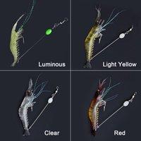 10 pz 90mm 7G Simulazione morbida Gamberetti Gamberetti Pesca Pesca a forma di gancio a forma di gancio Bionic Gamberetti artificiali con gancio