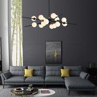 유리 공 LED 샹들리에 램프 현대 럭셔리 생활 욕실 매달려 조명 실내 천장 마운트 Luminaire 펜던트 램프