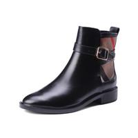 2021 primavera outono moda mulher botas de tornozelo preto botas de couro genuíno mujer botas macias de couro macio