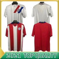 2020 2021 Mailleots de Football Paraguay National Team Soccer Jerseys Home Romero Ayala Lezcanano Gonzalez Sanabria Custom Shirts