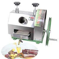 Máquina de zumo de azúcar de caña de azúcar de acero inoxidable Juicora de caña de azúcar, exprimido de jugo de caña Máquina extractor de jugo de caña de azúcar 50kg / h