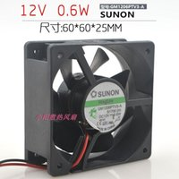 SUNON GM1206PTV3-A 12V 0.6W 6cm 6025 -Wire Super-Silent Cooling Fan1