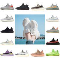 Static Reflective 350 V2 Running shoes Kanye west الاحذية السمسم زبدة breds أسود أبيض أريوس الرياضية أحذية رياضية حجم 36-47 مربع دون