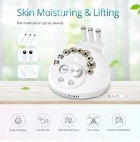 Mini Facial Cleansing Máquina Blackhead Remoção 3 em 1 Água Máquina Diamante Microdermoabrasão Beleza Pulverizar Rosto Pele Peeling máquina