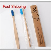 Bamboo Toothbrush Soft Bristle Toothbrush Portable Travel Handle Toothbrushes Oral Hygiene Whitening Bathroom A qyliCW bdenet