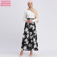 Faldas Mujer Moda High Waist Abaya Arabic Muslim Skirt Jupe Femme Long Islamic Skirts Womens Lange Rokken Islam Clothing1