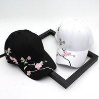 Визуализации 2021 вышивка шляпа пружины и лето дикая пара сливы бейсбольная кепка женское открытое солнце кап1