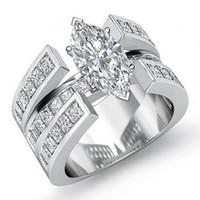 Victoria Wieck Sıcak Satış Lüks Takı 925 Ayar Gümüş Markiz Kesim Beyaz Topaz CZ Elmas Promise Yüzük Kadınlar Düğün Gelin Yüzük Hediye