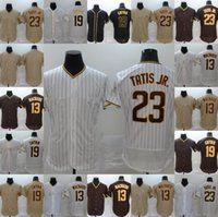 사용자 정의 2020 저지 19 Tony Gwynn Jersey 13 Manny Machado 23 Fernando Tatis Jr. 모든 스티치 플렉스베이스 쿨베이스 야구 유니폼