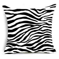 Односторонняя печать животных леопарда декоративные подушки супер мягкие бархатные черно-белые зебра шаблон подушки крышки диван Eef4875