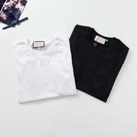 New Mens Camiseta Mens Womens T Shirt Alta Qualidade Preto T-shirt Branco Tamanho M-3XL G