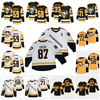 Pittsburgh Penguins 2021 Reverse Retro Vierte Sidney Crosby Kris Letang Jason Zucker Evgeni Malkin Lafferty Jarry Kasperi Kapanen Jersey