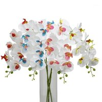 10pcs Artificiale Foth Orchid Flowers Real Touch Latex Butterfly Orchids Stelo Pianta 9 Teste Centerpiece Silicone Flowers1