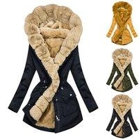2021 Faux manteau de fourrure Veste d'hiver Femmes Longue Parka Faux de fourrure de fourrure Capuche épaisse Warm Outwear Liner Streetwear Tops