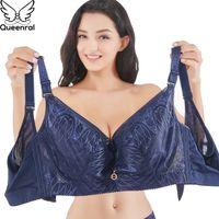 Reenloral Sujetadores para mujeres ropa interior Lencería Sexy Push Up Bralette Completo Coverage Plus Tamaño Brassiere CDE Copa Sostenes Muyer Grande 201202
