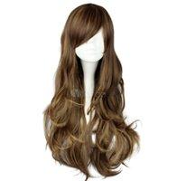 Элегантная длинная волнистая темно-коричневая сторона Swept безграничный синтетический парик