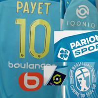 2020 OM 3 Payet Benedetto Maillot com Thauvin Alvaro Rongier Mandanda com patrocinador completo Futebol Badge