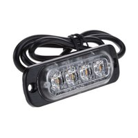 4 LED luces de marcador lateral de coche ultra delgado para camiones Lámpara de flash estroboscópica LED parpadeante Luz de advertencia de emergencia