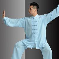 Mujeres hombres unisex tai chi kungfu uniforme yoga set chino tradicional sed shief sudadera + jogger de pantalón traje casual artes marciales Set1