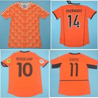 Top 1988 1997 1998 Hollanda Retro Futbol Formaları 2000 2002 Hollanda Van Bastten Futbol Gömlek Gullit Jersey Bergkamp Maillot de Foot