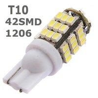 Аварийные огни 2021 10x T10 1206 42 SMD Auto LED лампы 42SMD DC12V автомобиля боковой клин маркера поворотные сигналы лампы 194 927 161 168 W5W1