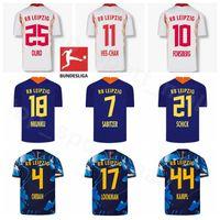 2020 2021 RBL Werner 축구 유니폼 18 Nkunku 14 Schick 7 Sabitzer 25 Olmo 10 Forsberg 9 Poulsen Laimer Klostermann 축구 셔츠 키트