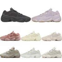 Nueva Calidad Kanye West 500 Zapatillas de correr Venta caliente Visión Soft Utility Black Moon Sneakers Amarillo Piedra Hueso Blanco Hombres Hombres Mujeres Entrenadores